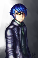 Persona 3 - The Bloodhound by bahamutneo