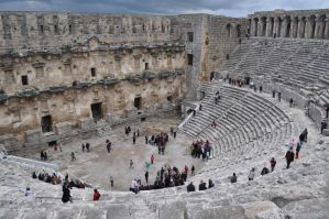 The Roman Theatre at Aspendos, Turkey-sites-da by hsn323