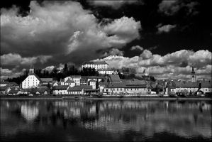 Ptuj in spring - BW by BBilly