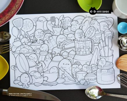 #inktober Day 7 - Kitchen Tools #inktober2016 by PicCandle