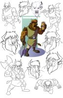 Rageid Model Sheet by CoyoteEsquire
