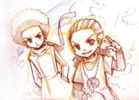 Boondocks Siblings by jinyjin