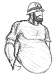 Request sketch for Mr. Engie -mpreg- by Spinosaur123