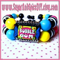 Bubble Gum Charm Bracelet by SugarAndSpiceDIY