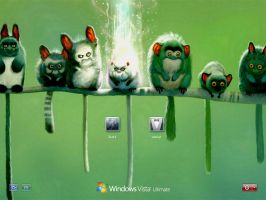 Monkeys logon screen for xp by bushijaggu