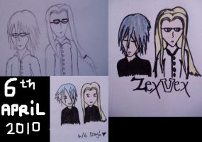 Sketches for ZexVex 4-6 Day :D by ICannotDrawToSaveMe