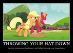 Throwing Your Hat Down by Blue-Paint-Sea