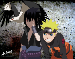 Naruto and Sasuke by Practice-s