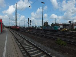 NMBS 2840 with mixed train by damenster