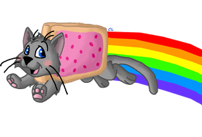 Nyan Cat Again - Wallpaper by Crestielover