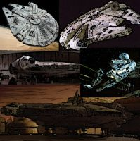 Millennium Falcon Collage by LadyIlona1984