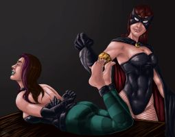 Unpaid Commission: Depravia tickled by Enchantra by shadowyzman