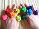 Heart Duct Tape Rings Rainbow by QuietMischief