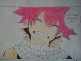 natsu: lets fight again one day coloured by katy181