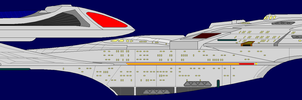 Sovereign Class Starship by captshade