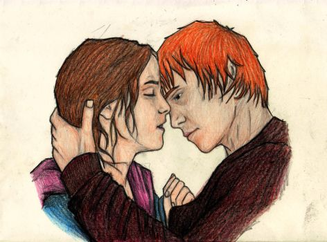 Ron and Hermione by ana-wandmaker