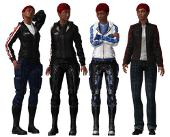 Andromeda Shepard Outfit Presentation - Casual by Just-Jasper