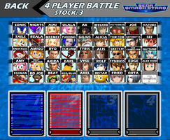 Sega Smash Stars Character Select Screen by ST3PH3NART