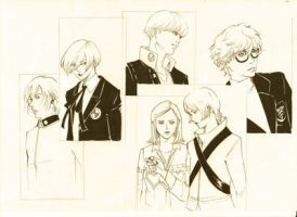 Protagonists of Persona Series by aghabiyasa