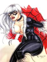 Black Cat Con Sketch by Dangerous-Beauty778