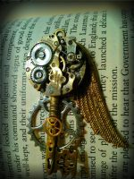 Bionic Angel Mechanized Fantasy Key by ArtByStarlaMoore