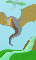 .:Dragons overhill:. by MountainRhythm