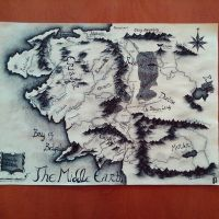 The mapp of The Middle Earth by JaneJanette