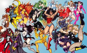 Ultimate DC Divas by CrimsonArtz