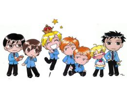 Ouran Chibi Party by sakkysa