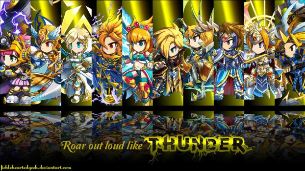 Brave Frontier Thunder Units Wallpaper by fickleheartedgeek