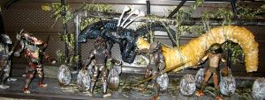 CUSTOM QUEEN ALIEN EGG SACK DIORAMA TOY by symbiote-x
