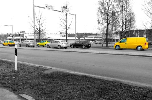 YELLOW CAR! by Paleee