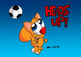 Heads Up Poster by JimmyCartoonist