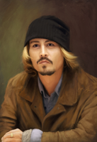 Johnny Depp Painting by CoreyGallagher