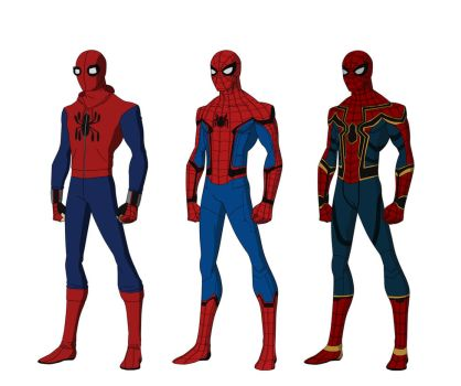 Spider-Man Homecoming suits by shorterazer