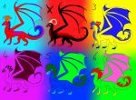 Dragon Adoptables 5 Points OPEN by Milchwoman