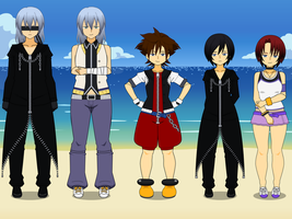 Kingdom hearts characters by TheLastGallant