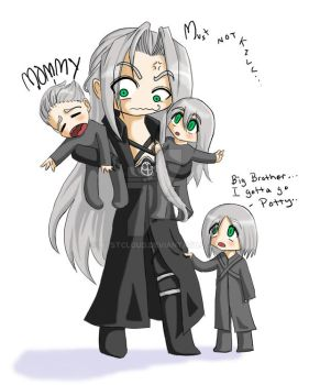 Babysitting with Sephiroth by mystcloud