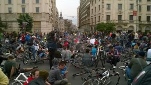 Cyclists protesting - Bucharest by catalin-ad