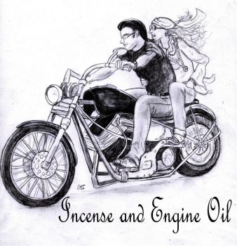 Incense and Engine Oil by andrian
