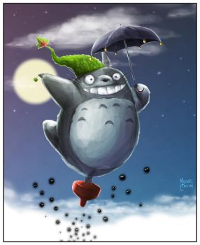 Totoro Saves Christmas by puggdogg