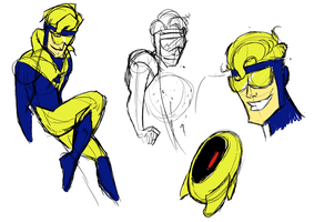 Booster Gold Sketches by GemmaDuffill