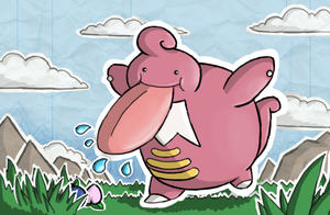 Lickilicky- Shining Forest art