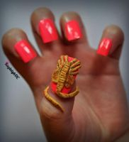 Alien - Facehugger Nail Art by KayleighOC
