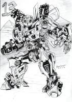 Bumblebee Inked Piece by AlanStain