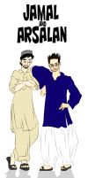 Jamma and Arsalan by ArsalanKhanArtist