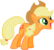 Applejack - Happily by Liggliluff