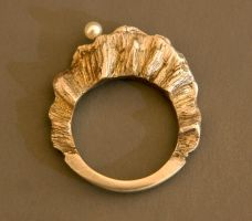 Golden Pearl Ring--SOLD by j-alex-darr