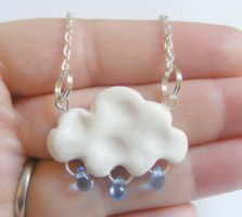 little cloud necklace from NeatEats by rhonda4066