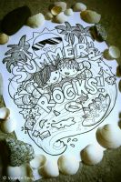 Doodle: SUMMER ROCKS by vicenteteng
